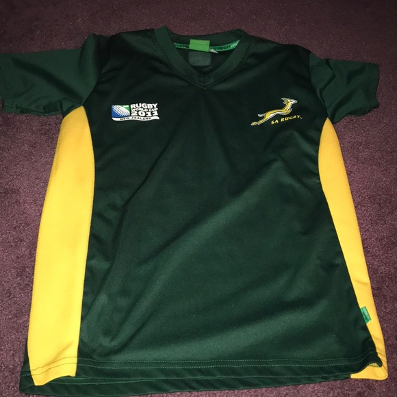 3dc4f2ff682 Tops | Green And Yellow South Africa Rugby Shirt | Poshmark